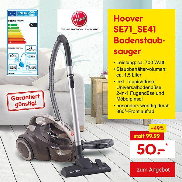 Exklusiv im Online Shop - Hoover SE71_SE41 Bodenstaubsauger, für nur 50.- €*