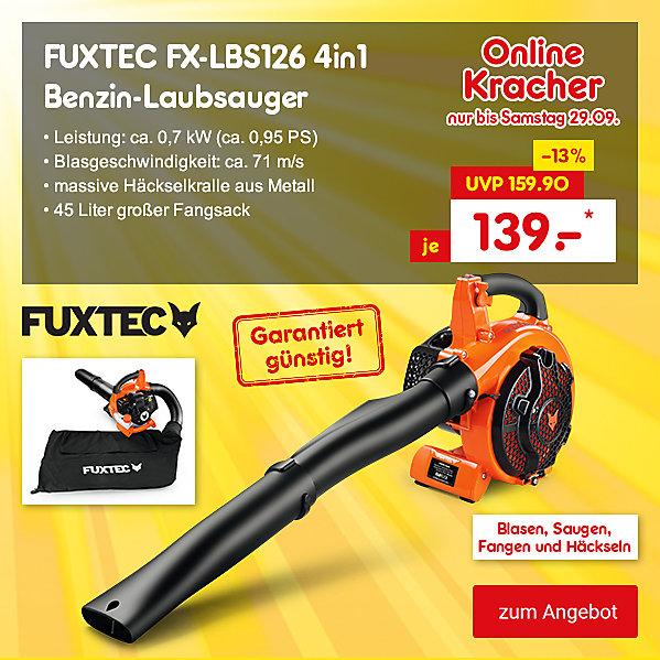 Onlinekracher - FUXTEC FX-LBS126 4in1 Benzin-Laubsauger, für nur 139.- €*