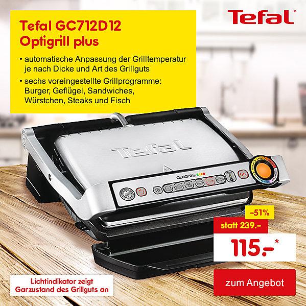 Exklusiv im Online Shop - Tefal GC712D12 Optigrill plus, für nur 115.- €*