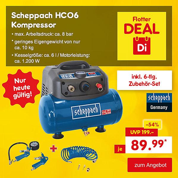 Flotter Deal - Scheppach HC06 Kompressor, für nur 89.99 €*