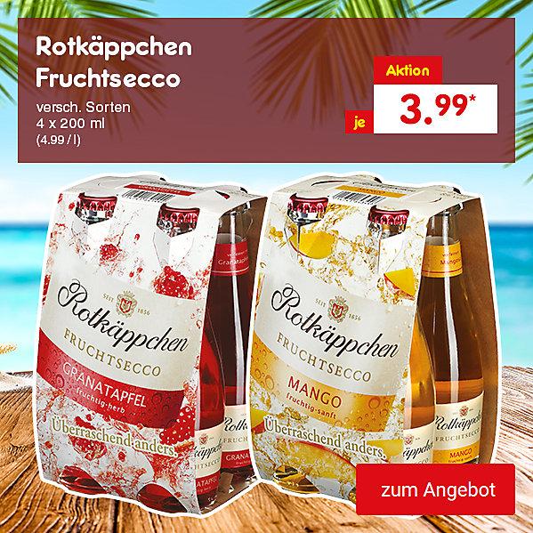 Rotkäppchen Fruchtsecco, 4 x 200 ml versch. Sorten (4.99 / l), für nur je 3.99 €*
