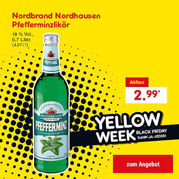 Nordbrand Nordhausen Pfefferminzlikör, 0,7 Liter (4.27 / l), für nur 2.99 €*