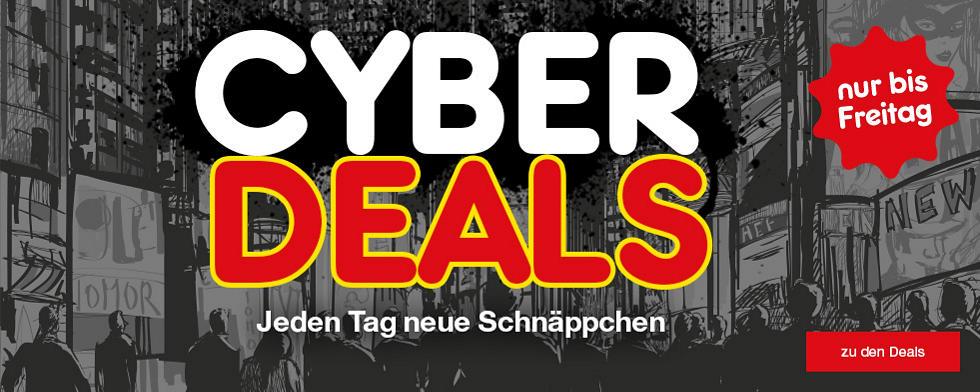 Cyberdeals - jeden Tag neue Angebote sichern - nur bis Freitag!