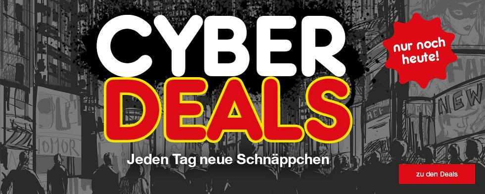 Cyberdeals - jeden Tag neue Angebote sichern - nur noch heute!