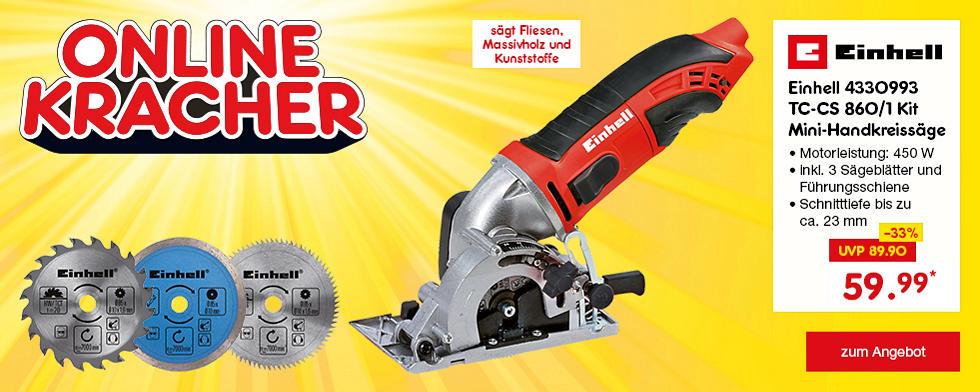 Onlinekracher - Einhell 4330993 TC-CS 860/1 Kit Mini-Handkreissäge, nur 59.99 €*