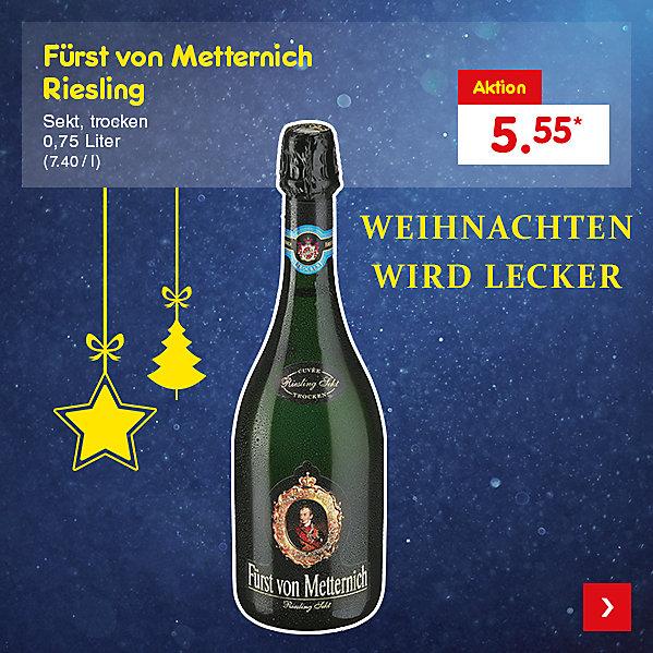 Fürst von Metternich Riesling, 0,75 Liter (7.40 / l), für nur 5.55 €*