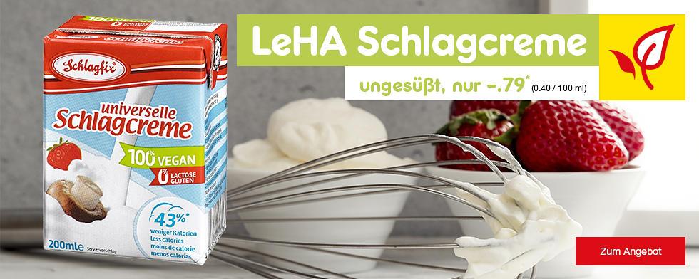 LeHA unvierelle Schlagcreme ungesüßt nur -.79 €