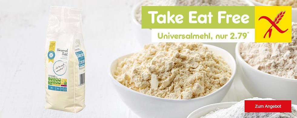 Take Eat Free glutenfreies Universalmehl, nur 2.79*