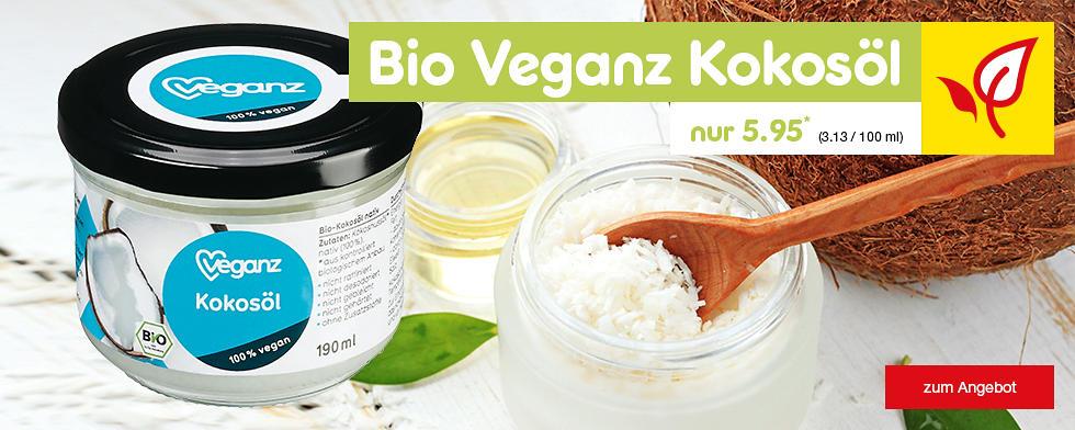 Bio Veganz Kokosöl nur 5.95 €