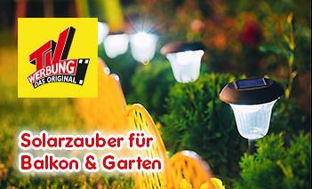 Solarzauber für Balkon und Garten - aus der TV-Werbung