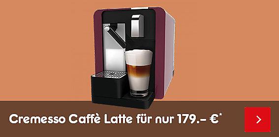Köstliche Kaffeekreationen auf Knopfdruck: die Cremesso Caffè Latte, nur 179.-*