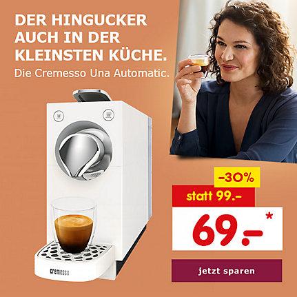 Der Hingucker auch in der kleinsten Küche. Die Cremesso Una Automatic White für nur 69.- €*