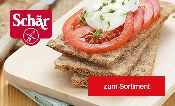 Glutenfreie Lebensmittel der Marke Schär finden Sie im Netto Online-Shop