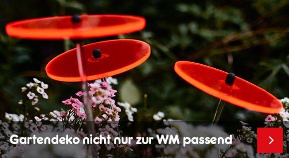 Gartendeko & Beleuchtung - nicht nur zur WM passend