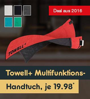 Die Höhle der Löwen - Deal aus 2016 - Towell+ Multifunktionshandtuch in verschiedenen Farben für je nur 19.98*