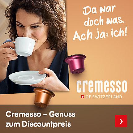 Cremesso - Genuss zum Discountpreis