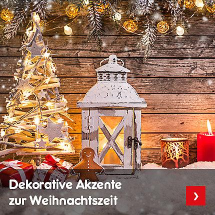Dekorative Akzente zur Weihnachtszeit