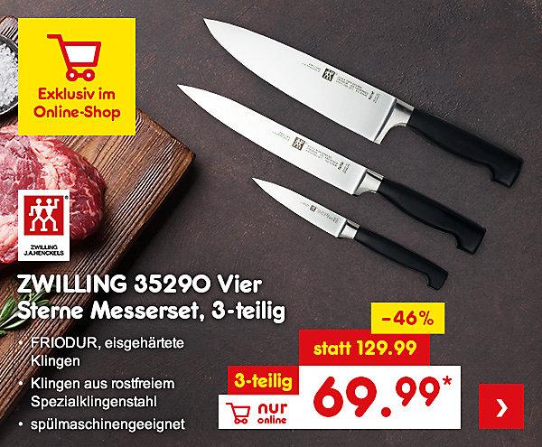 Exklusiv im Online Shop - Zwilling 35290 Vier Sterne Messerset, 3-teilig, für nur 69.99 €*