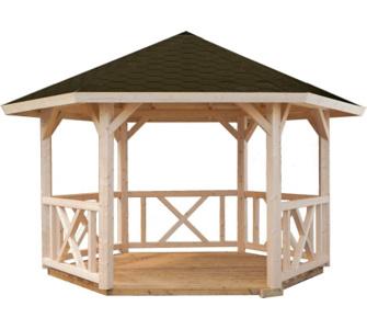 ein pavillon ihr gesch tzter luftiger sitzplatz im gr nen gartenxxl ratgeber. Black Bedroom Furniture Sets. Home Design Ideas