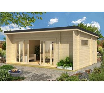 Gartenhaus mit terrassen berdachung my blog for Behindertengerecht bauen