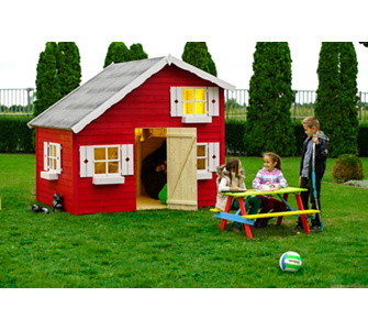 Kindheitstraum Kinderspielhaus - Träume Brauchen Räume - Gartenxxl ... Kinder Spielhaus Garten