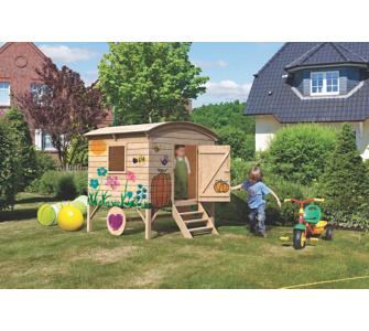 WoodFeeling Spielhaus als Bauwagen