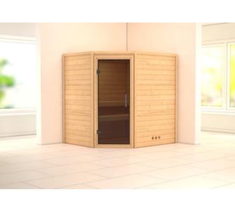 Woodfeeling Mia 38 mm Sauna ohne Dachkranz