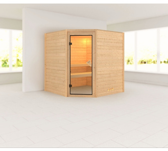 Woodfeeling Lucie 38 mm Sauna ohne Dachkranz