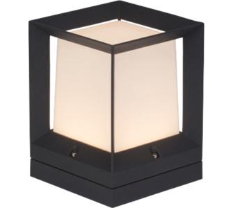 AEG LED Sockelleuchte Kubus, Aluminium, IP65, 7,6 W
