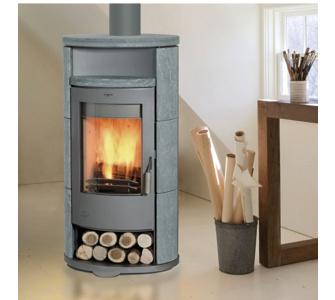 Fireplace Kaminofen Alicante - Speckstein - drehbar
