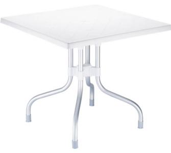 CLP hochwertiger Aluminium Gartentisch FORZA 80 x 80 cm, Höhe 72 cm, Plat