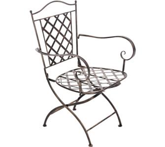 CLP nostalgischer Metall-Stuhl ADARA aus Eisen (aus bis zu 6 Farben wähle