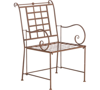nostalgischer Stuhl HELEN aus Eisen (aus bis zu 6 Farben wählen)
