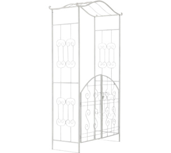 rosenbogen metall mit tor sonstige preisvergleiche. Black Bedroom Furniture Sets. Home Design Ideas