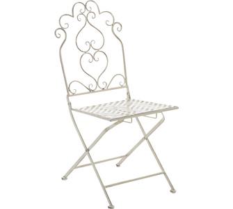 CLP nostalgischer Eisen-Stuhl ANABEL aus Metall, bis zu 6 Farben wählbar