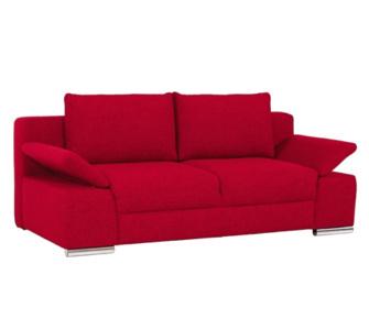 IOVIVO Schlafsofa Neapel mit Bettkasten, Stoff rot