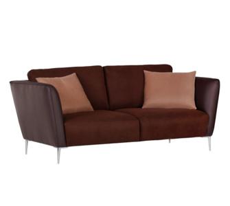 IOVIVO 3-Sitzer Sofa Palermo inkl. Kissen, Stoff braun