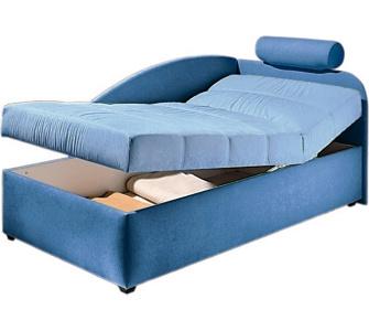 polsterliege polsterliege mit bettkasten extra bequem durch die. Black Bedroom Furniture Sets. Home Design Ideas