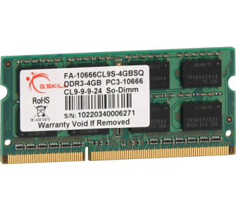 G.Skill Arbeitsspeicher SO-DIMM 4 GB DDR3-1333