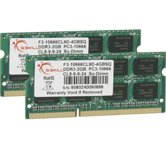 G.Skill Arbeitsspeicher SO-DIMM 4 GB DDR3-1333 Kit