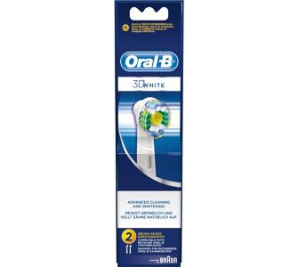 Braun Elektrische Zahnbürste Aufsteckbürste 3D White 2er