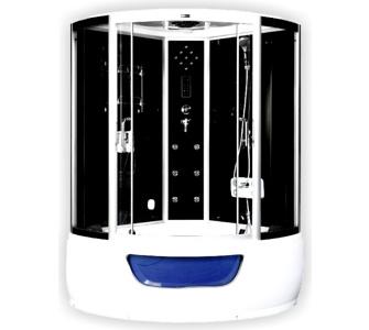 Home Deluxe Exclusio Duschtempel Dampfdusche Whirlpool Dampfsauna inkl
