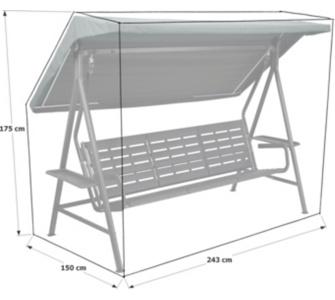 gartenschaukel schutzh lle preisvergleich die besten angebote online kaufen. Black Bedroom Furniture Sets. Home Design Ideas