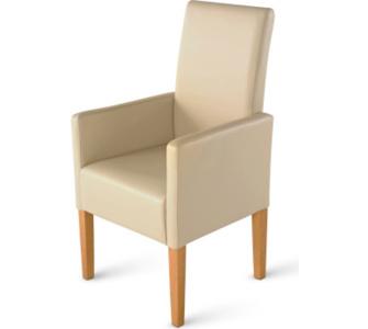 Cats Collection Esszimmerstuhl Stuhl mit Armlehnen Leder creme