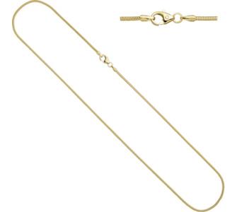 Jobo Schlangenkette 585 Gelbgold 1,4 mm 60 cm Gold Kette Halskette Gol