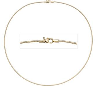 Jobo Halsreif flexibel 585 Gelbgold 1,4 mm 45 cm Gold Kette Halskette