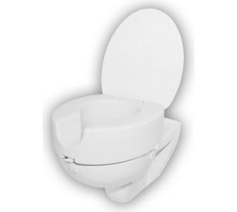 1PLUS WC Sitzerhöhung mit Deckel und Absenkautomat