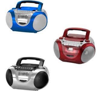 Soundmaster SCD5350 CD Radiorekorder mit externem Mikrofon Farbe: rot