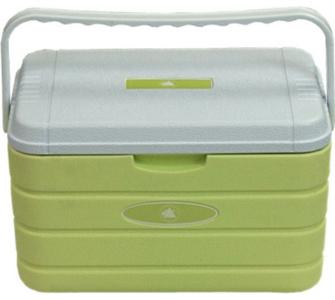10T Fridgo 10L passive Kühlbox Kühlbehälter 37x24x24cm PU Thermobox mit Schnapp Verschluß Tragegriff warm / kalt Isolierbox für Camping Outdoor Picknick & Garten, 10-T Outdoor Equipment