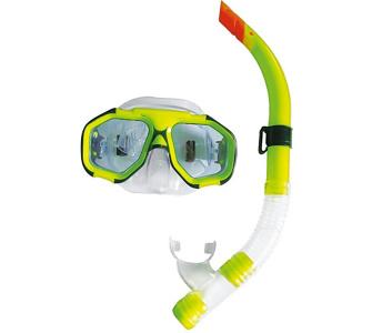 , Ocean Schnorchelset Tauchset mit Tauchmaske / Taucherbrille / Schwimmbrille und Dry Schnorchel Taucherschnorchel, Blau